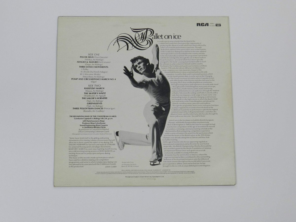 Ballet on Ice Vinyl Record The band of coldstream Guards play the music of John Curry sleeve rear scaled