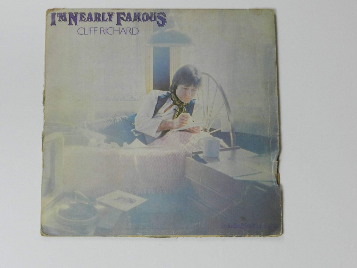 Cliff Richard vinyl record Im nearly famous record sleeve scaled