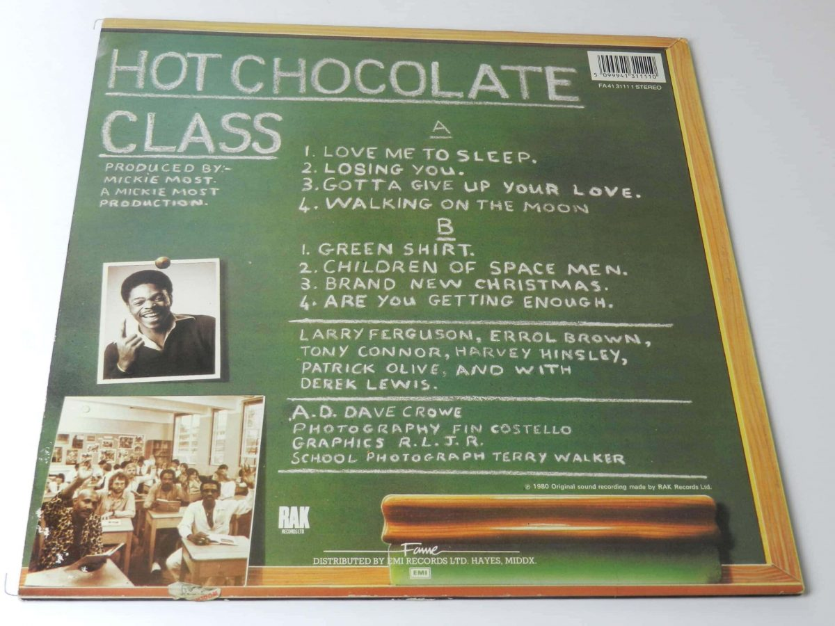 Hot Chocolate class vinyl record rear scaled