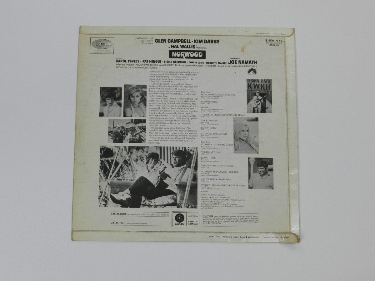 Norwood original motion picture soundtrack vinyl record sleeve rear scaled