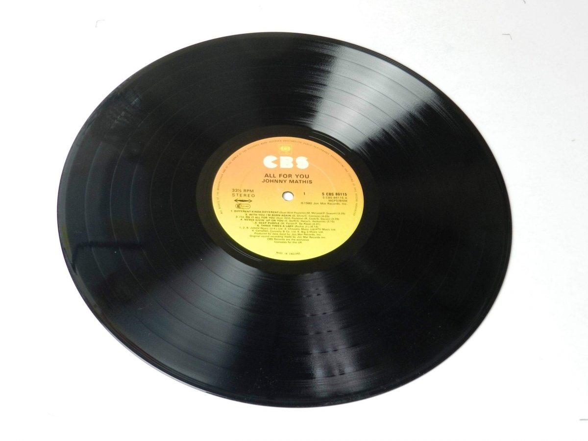 Johnny Mathis All for you vinyl record side A scaled