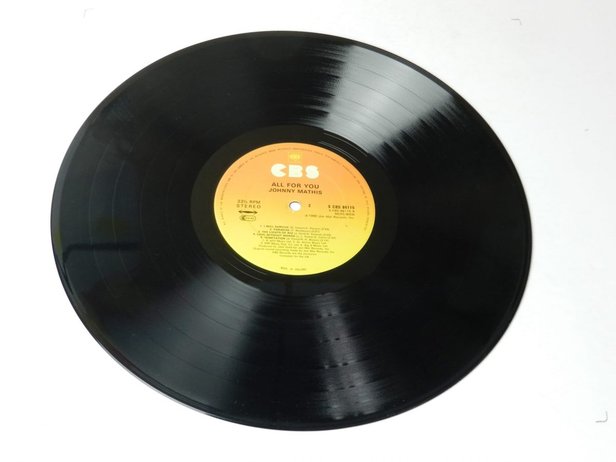 Johnny Mathis All for you vinyl record side B scaled