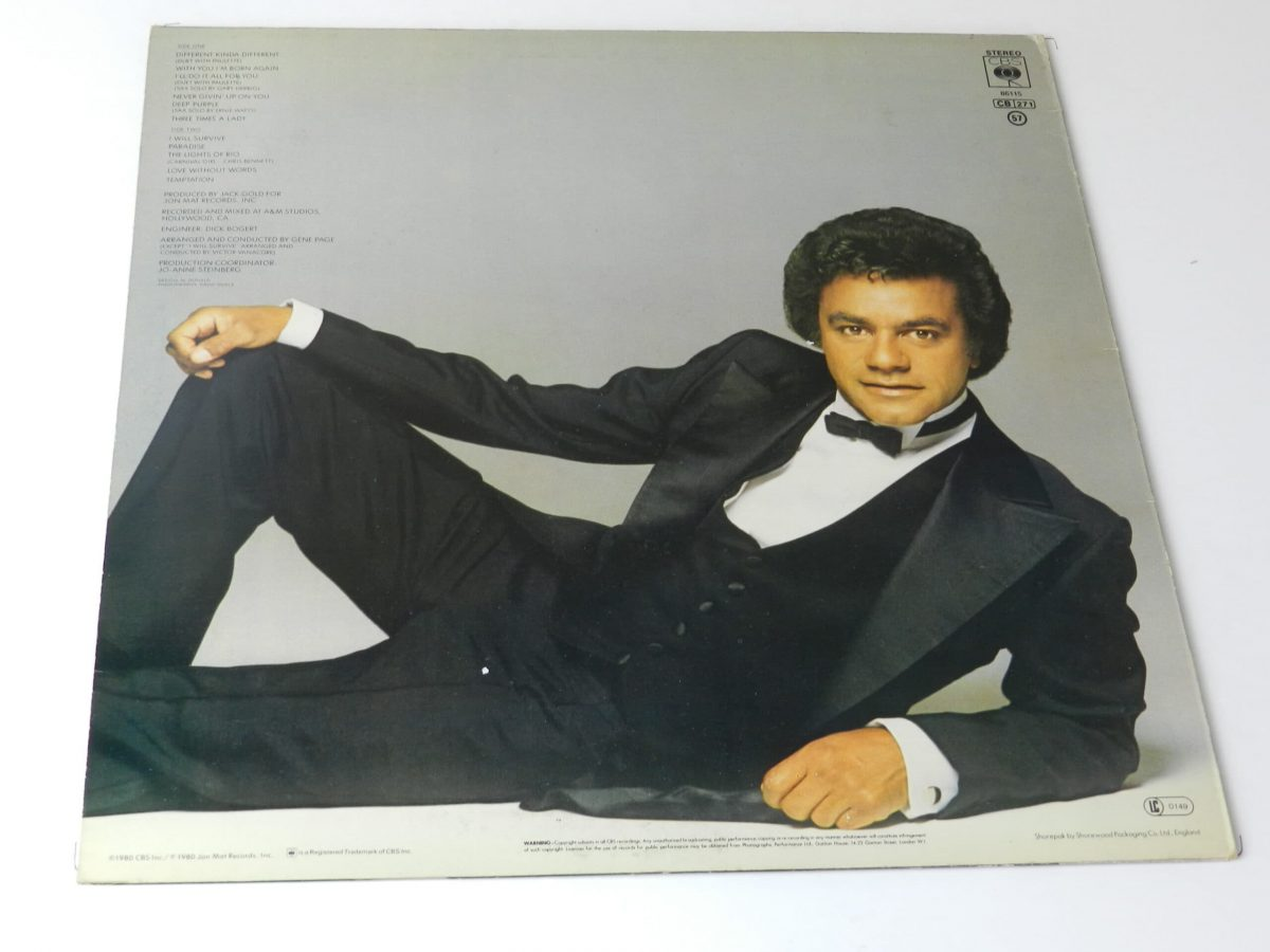 Johnny Mathis All for you vinyl record sleeve rear scaled