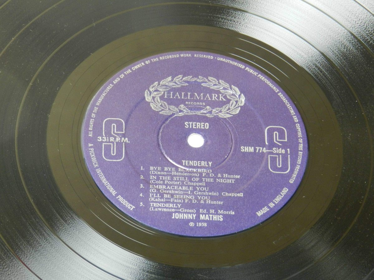 Johny Mathis Tenderly vinyl record side A label scaled