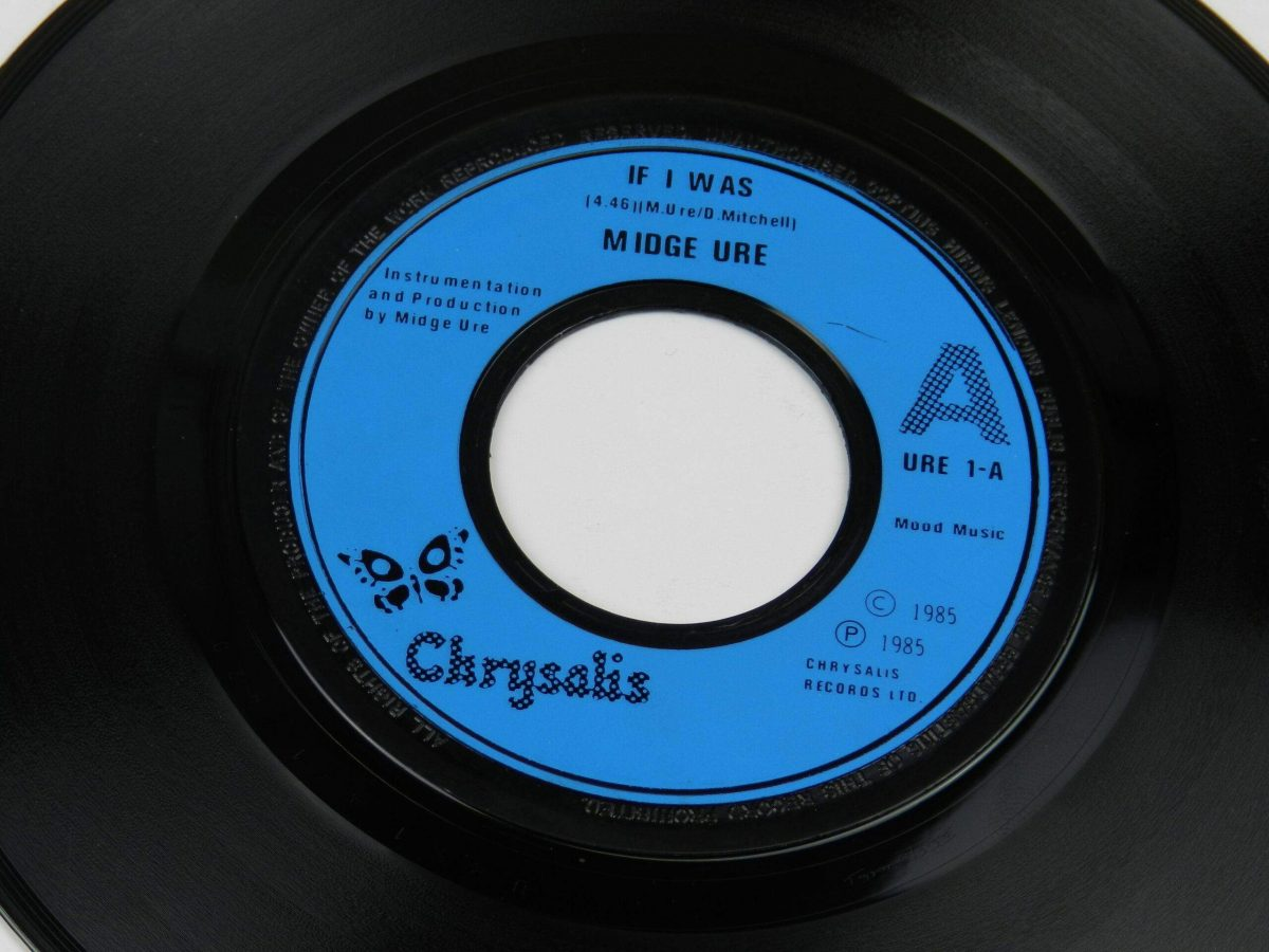 Midge Ure If I Was vinyl record side A label scaled