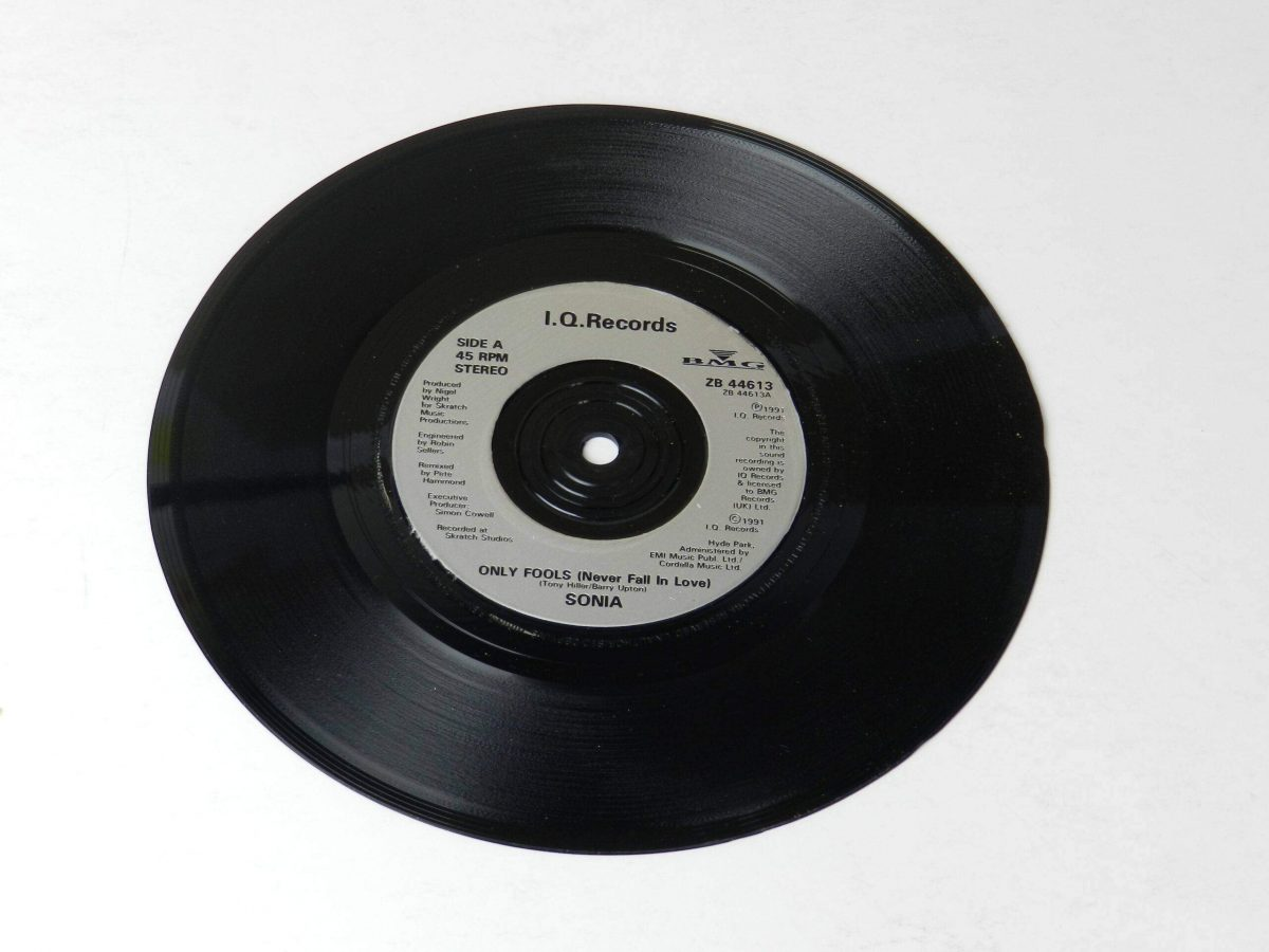 Sonia Only fools vinyl record side A scaled