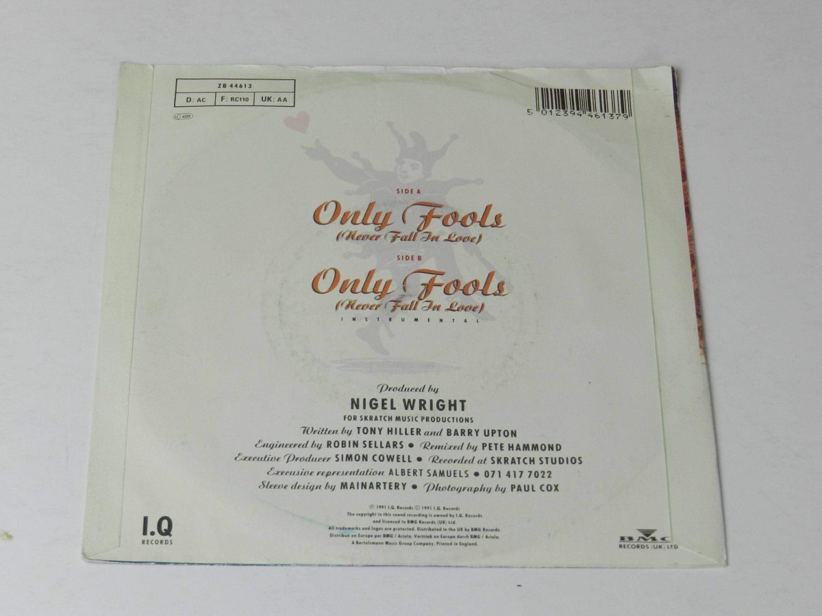 Sonia Only fools vinyl record sleeve rear scaled
