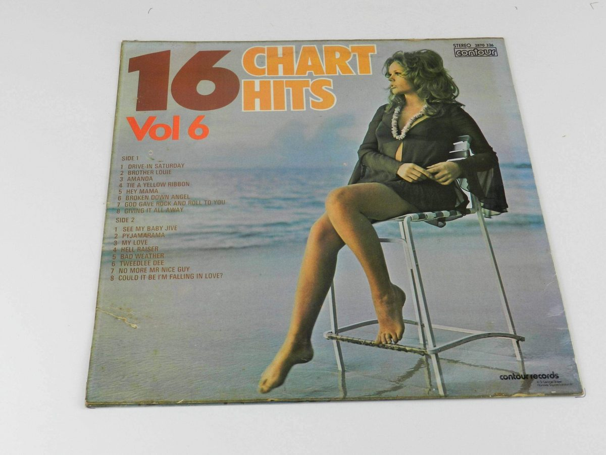 Unknown Artist – 16 Chart Hits Vol 6 vinyl record sleeve rear scaled