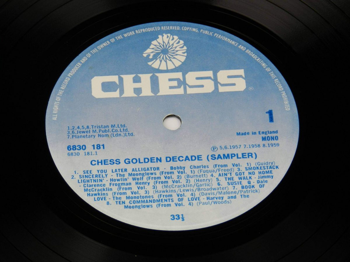Various – Chess Golden Decade Sampler vinyl record side A label scaled