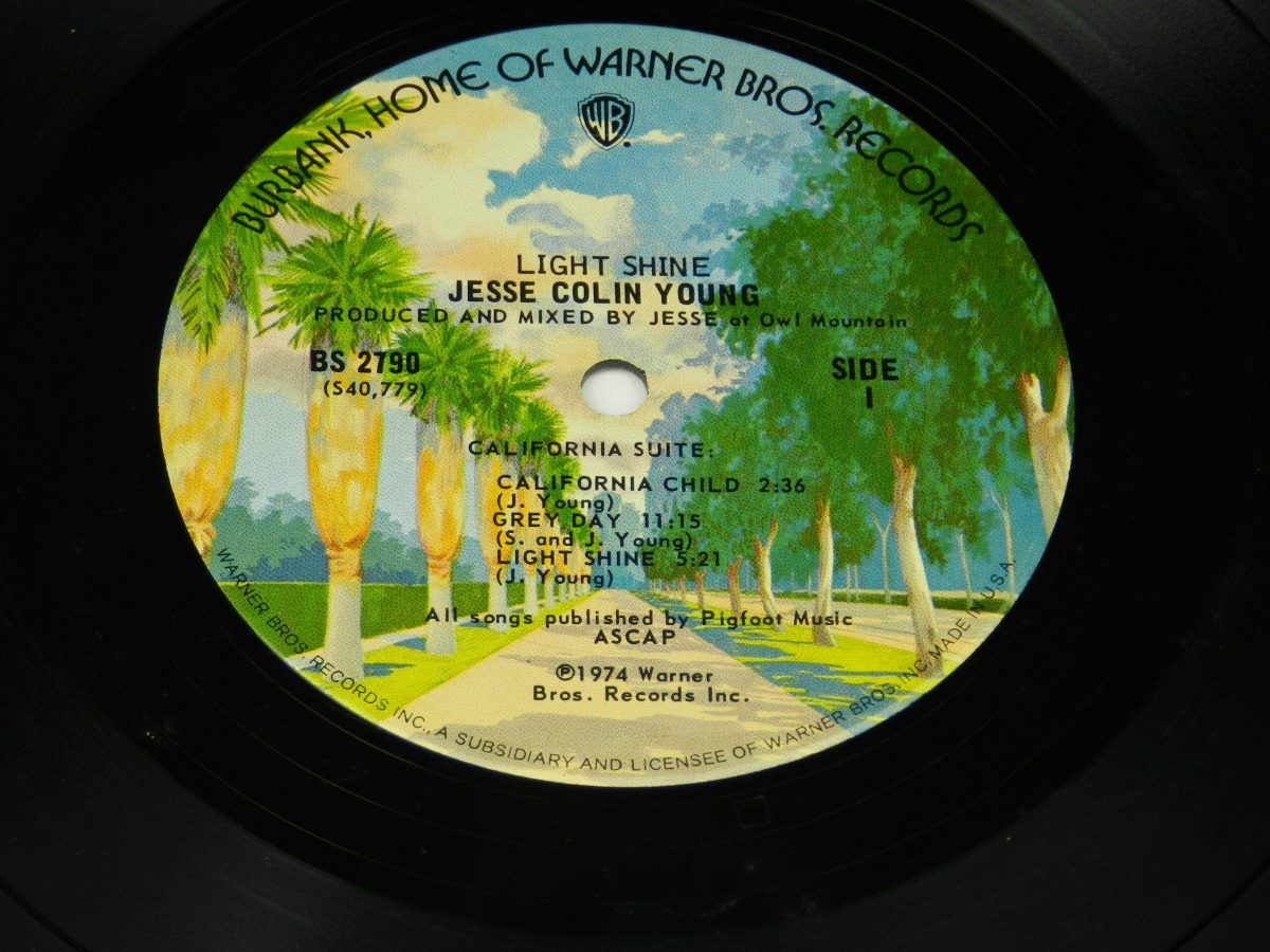 Jesse Colin Young – Light Shine vinyl record side A label scaled