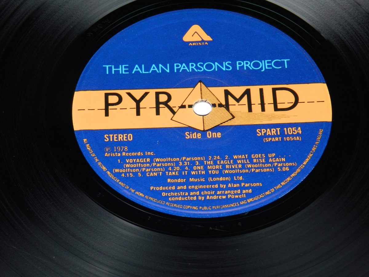 The Alan Parsons Project – Pyramid vinyl record side A label scaled