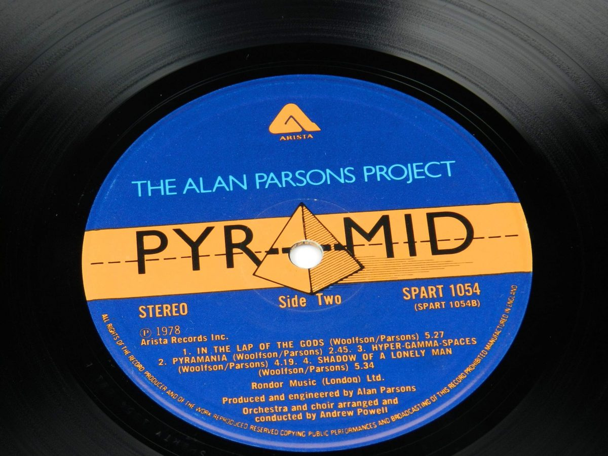 The Alan Parsons Project – Pyramid vinyl record side B label scaled