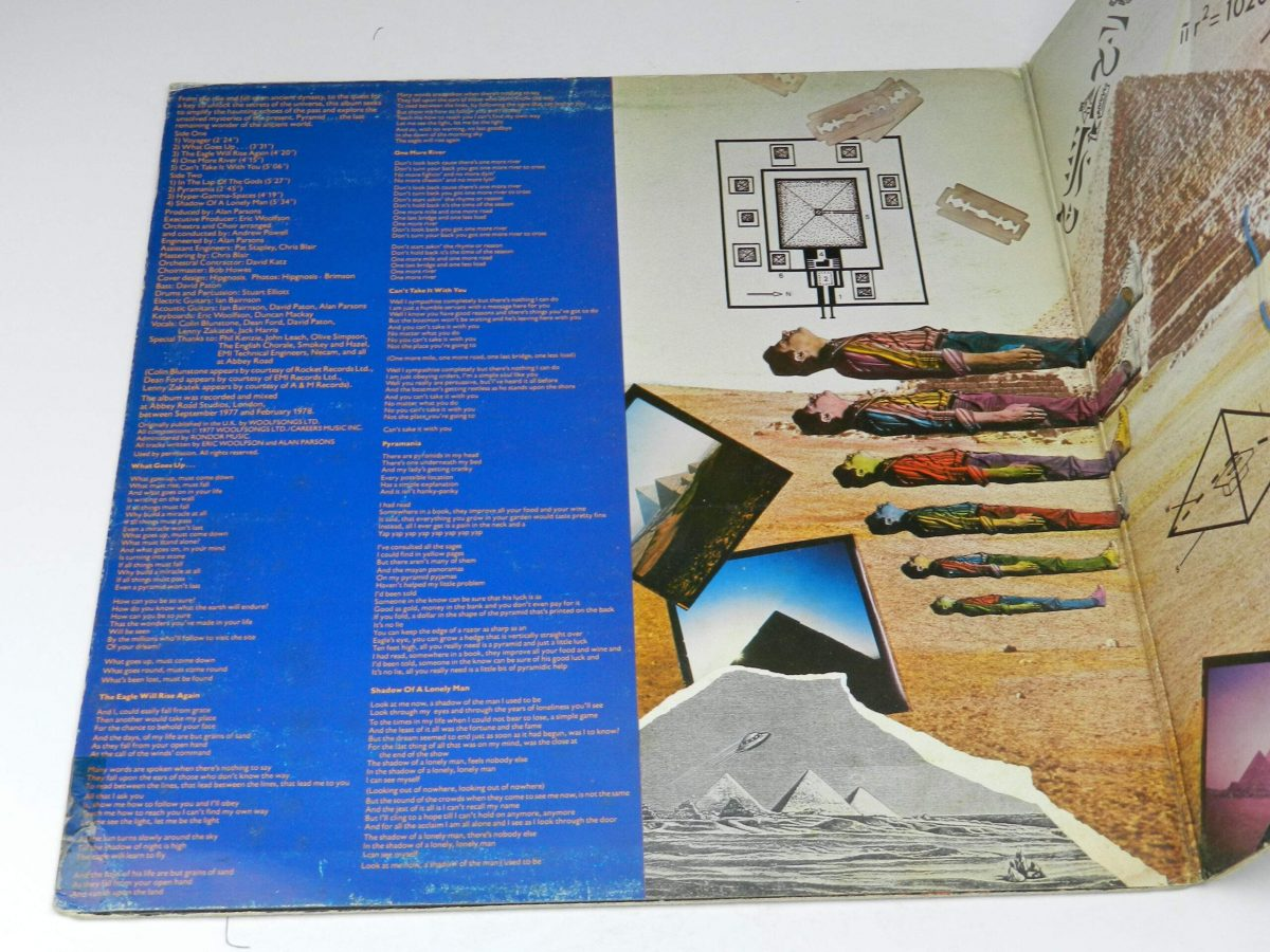 The Alan Parsons Project – Pyramid vinyl record sleeve gatefold 1 scaled