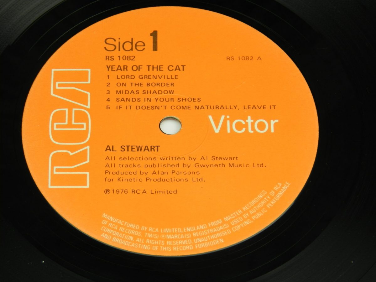 Al Stewart – Year Of The Cat vinyl record side A label 1 scaled