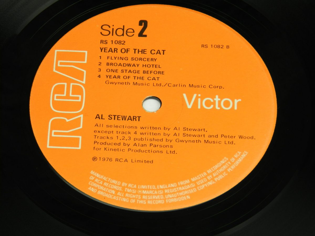 Al Stewart – Year Of The Cat vinyl record side B label 1 scaled