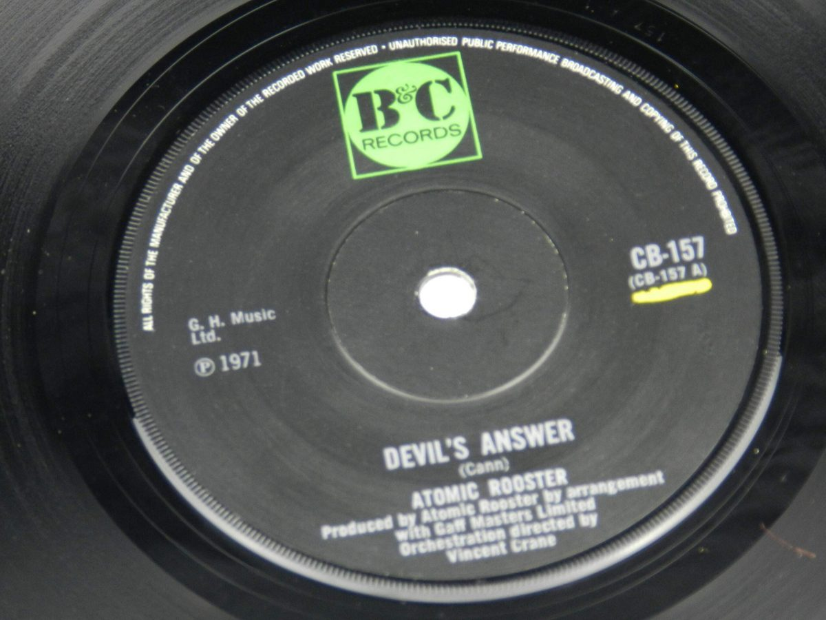 Atomic Rooster – Devils Answer vinyl record side A label scaled
