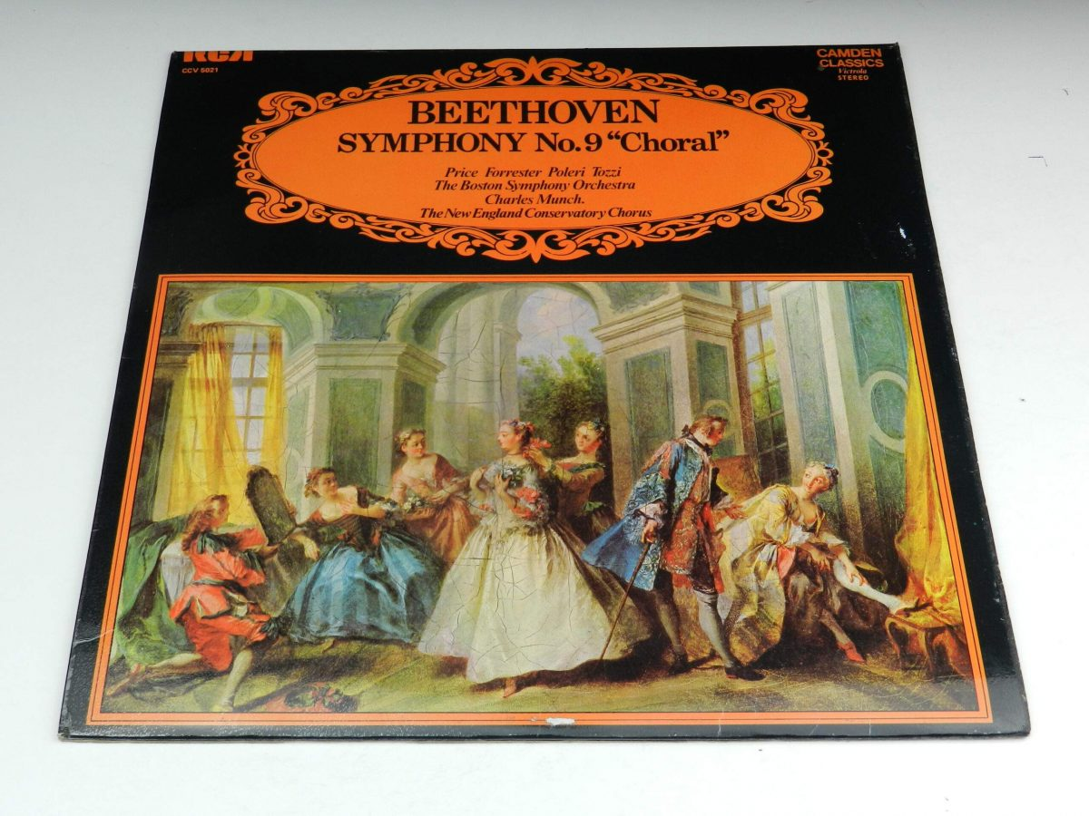 Beethoven Price Forrester Poleri Tozzi The Boston Symphony Orchestra Charles Munch The New England Conservatory Chorus – Symphony No9 Choral vinyl record sleeve scaled
