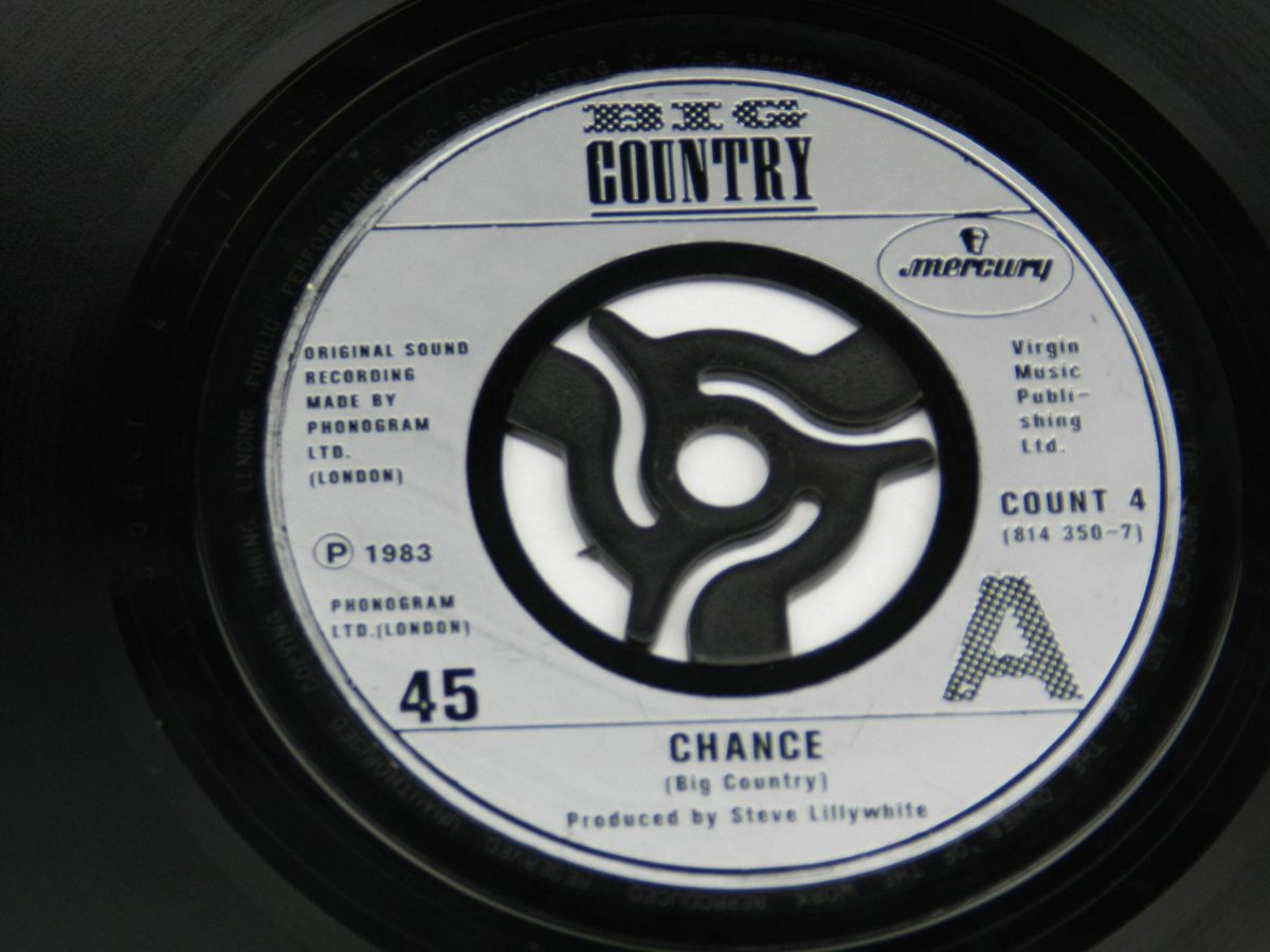 Big Country – Chance vinyl record side A label scaled
