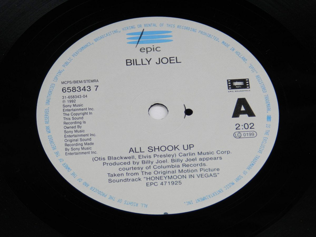 Billy Joel – All Shook Up vinyl record side A label scaled