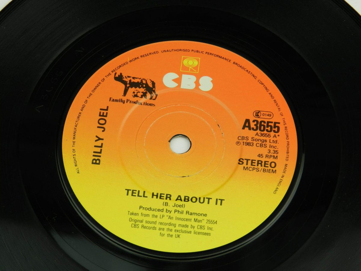 Billy Joel – Tell Her About It vinyl record side A label scaled