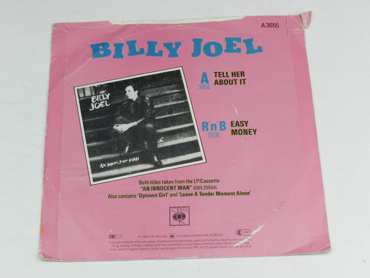 Billy Joel – Tell Her About It vinyl record sleeve rear scaled