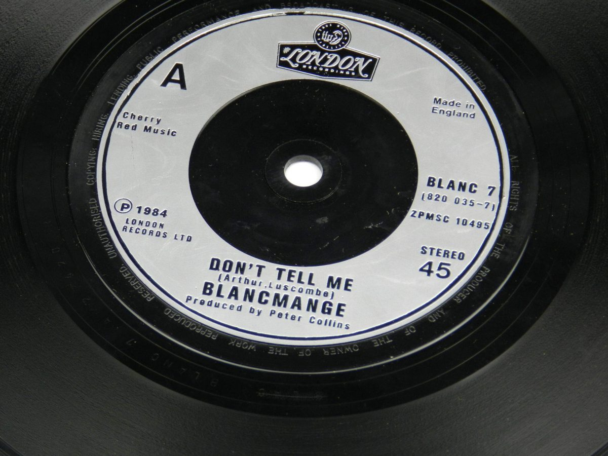 Blancmange – Don t Tell Me vinyl record side A label scaled