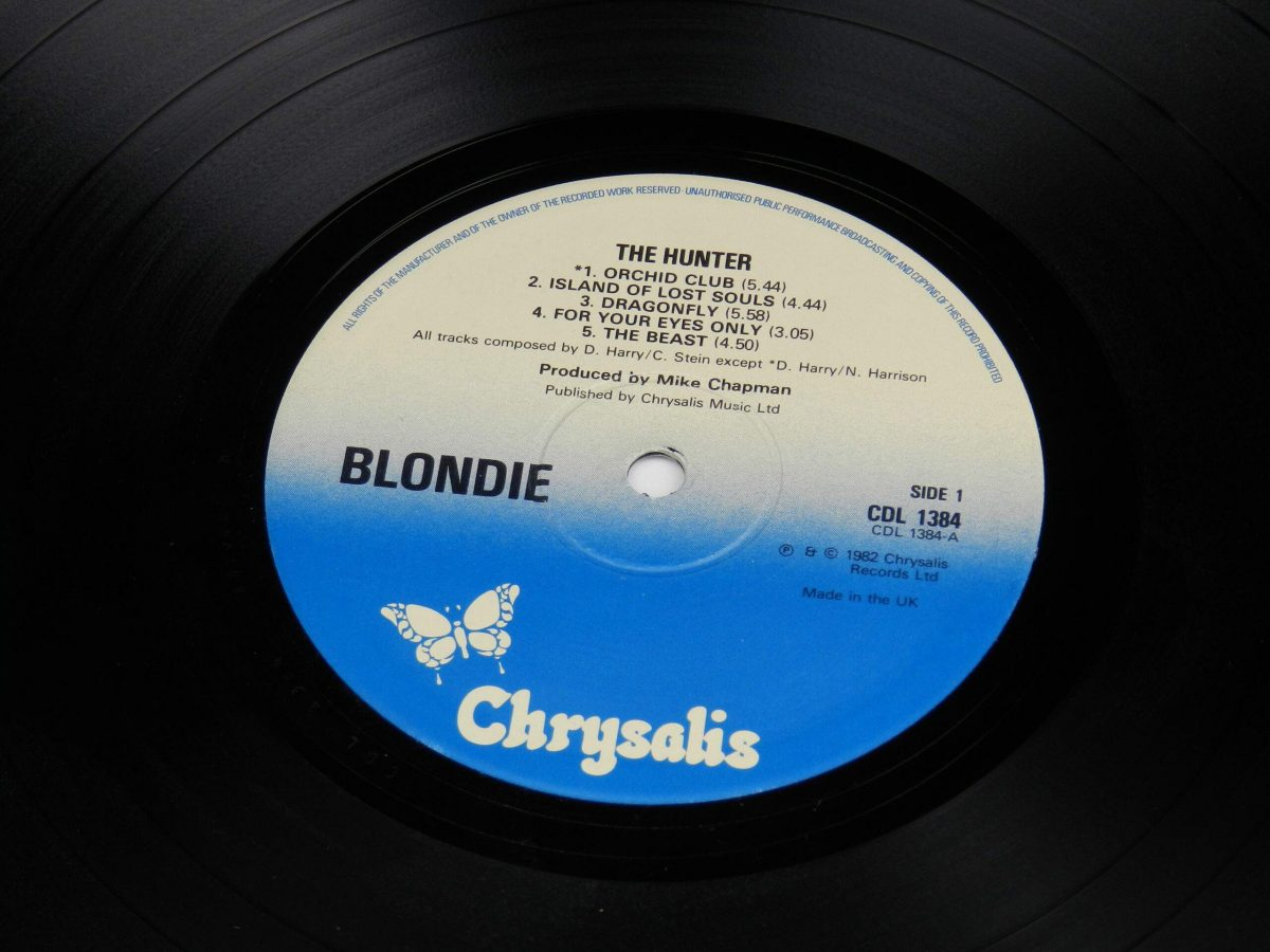 Blondie – The Hunter vinyl record side A label scaled