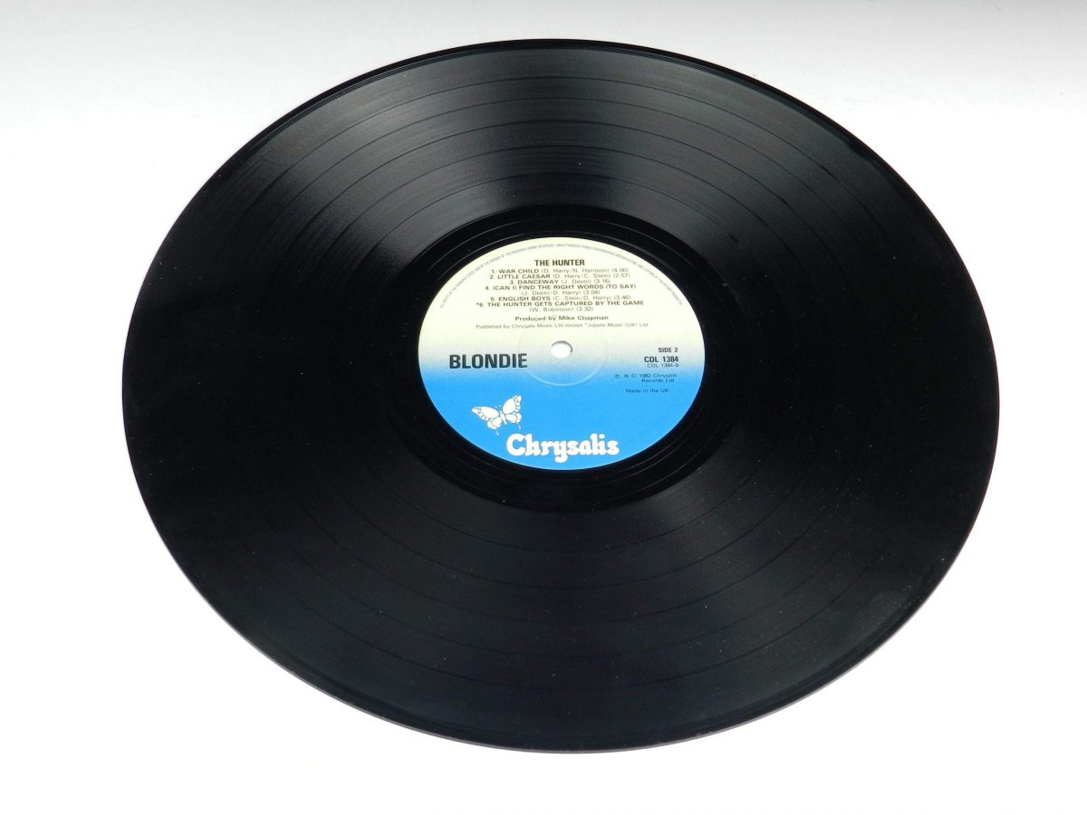 Blondie – The Hunter vinyl record side B scaled