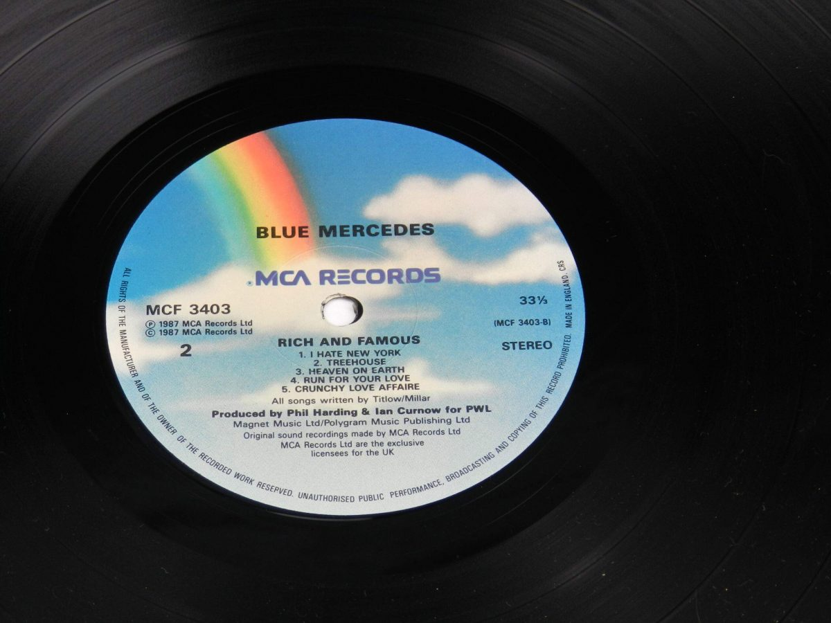 Blue Mercedes – Rich And Famous vinyl record side B label scaled