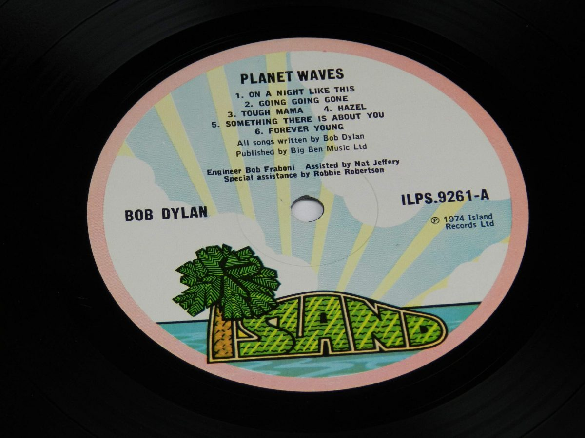 Bob Dylan – Planet Waves vinyl record side A label scaled