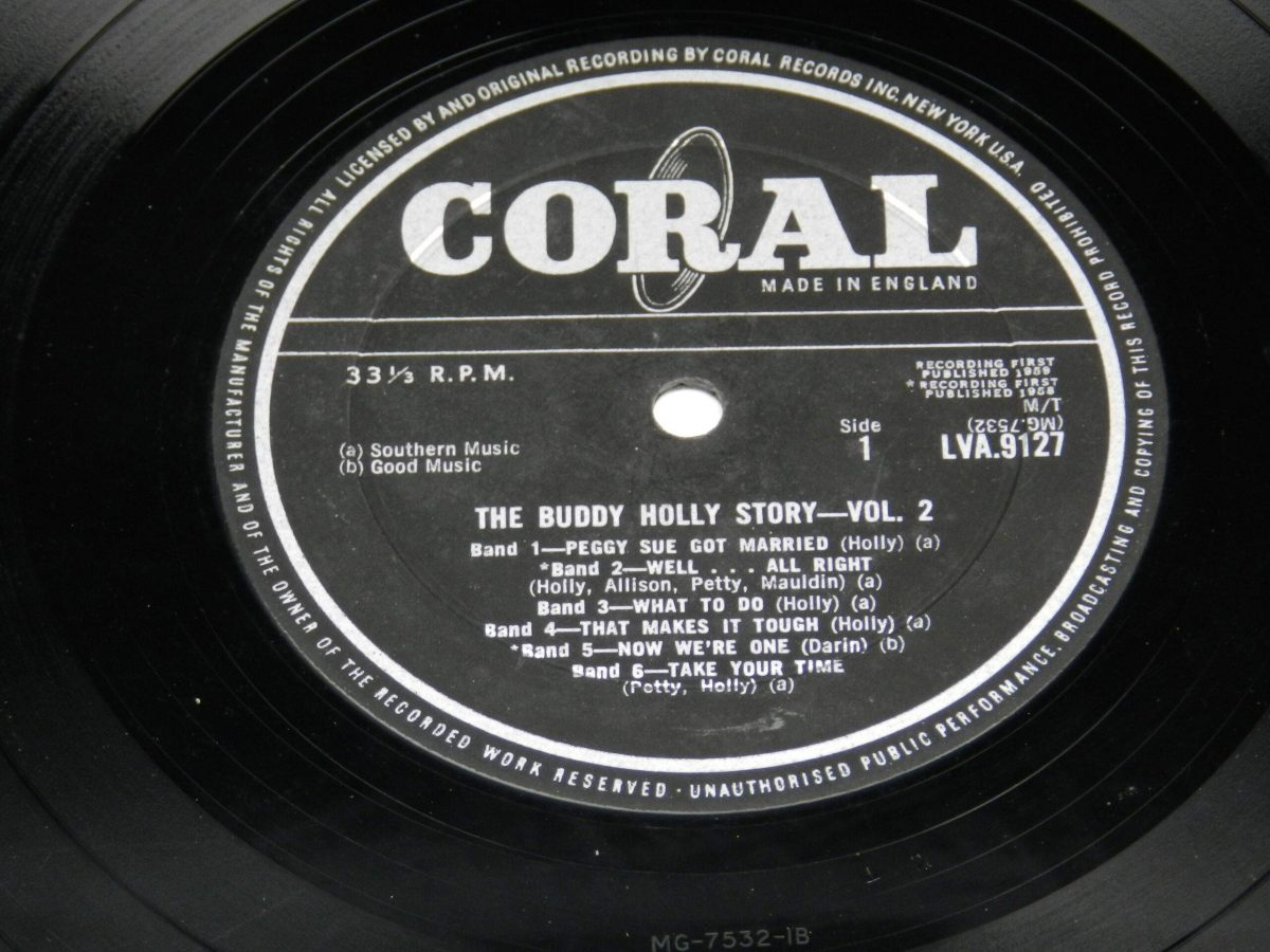 Buddy Holly – The Buddy Holly Story Volume II vinyl record side A label scaled