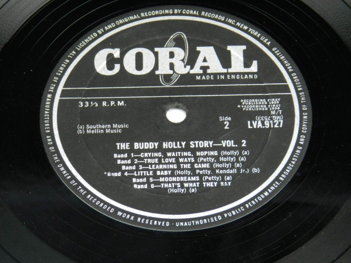 Buddy Holly – The Buddy Holly Story Volume II vinyl record side B label scaled