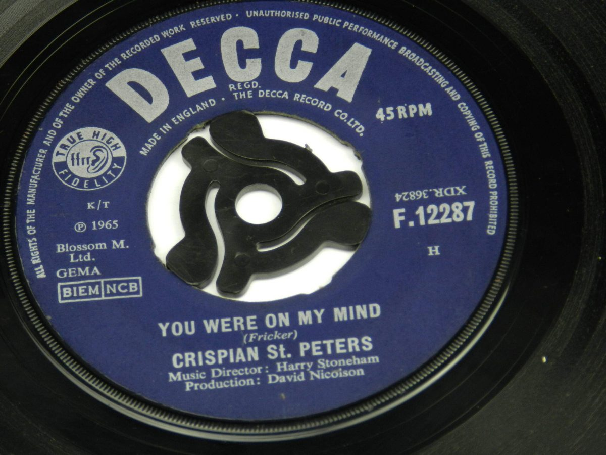 Crispian St Peters – You Were On My Mind vinyl record side B label scaled