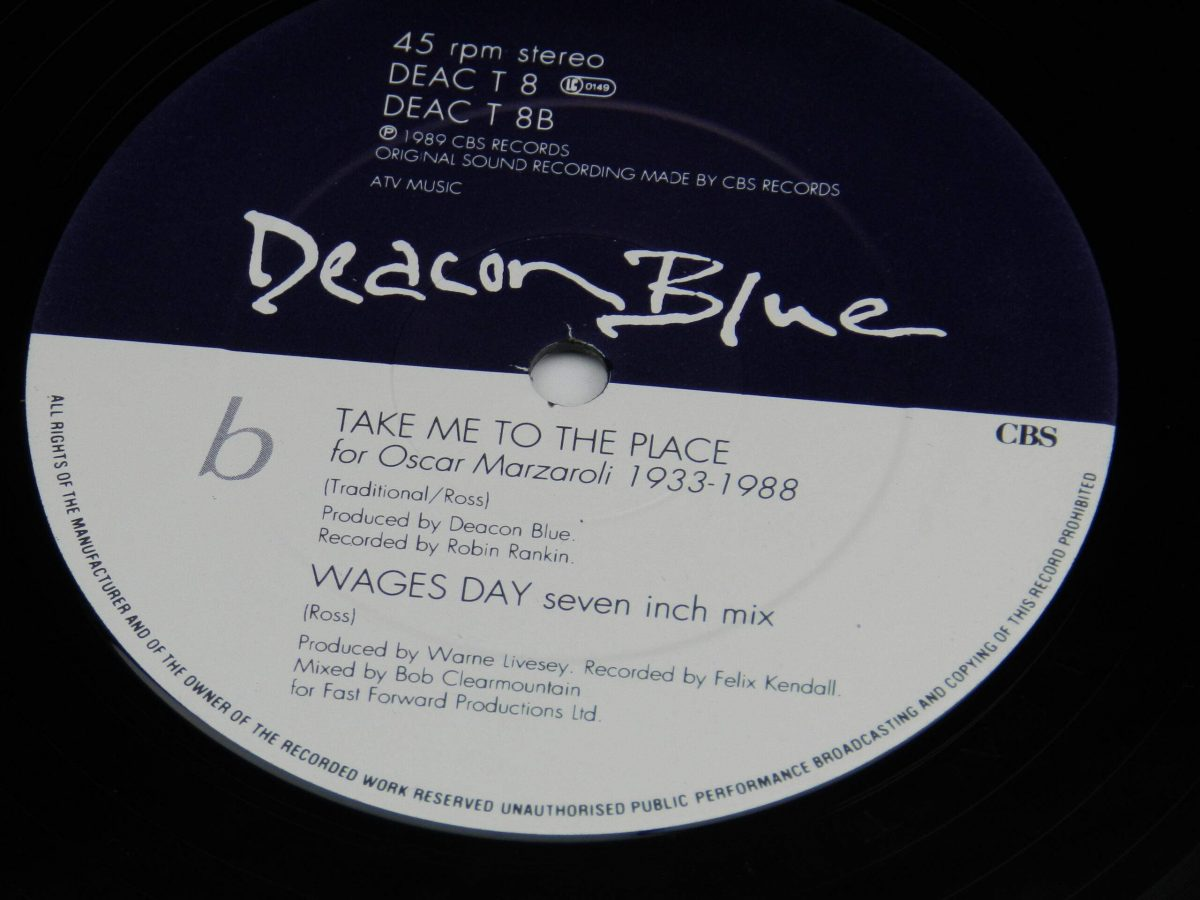 Deacon Blue – Wages Day vinyl record side B label scaled