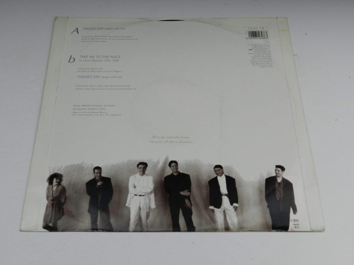 Deacon Blue – Wages Day vinyl record sleeve rear scaled