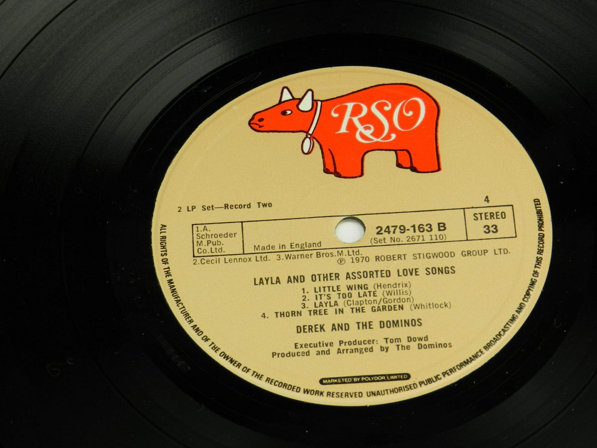 Derek and The Dominos – Layla And Other Assorted Love Songs vinyl record 2 side B label scaled