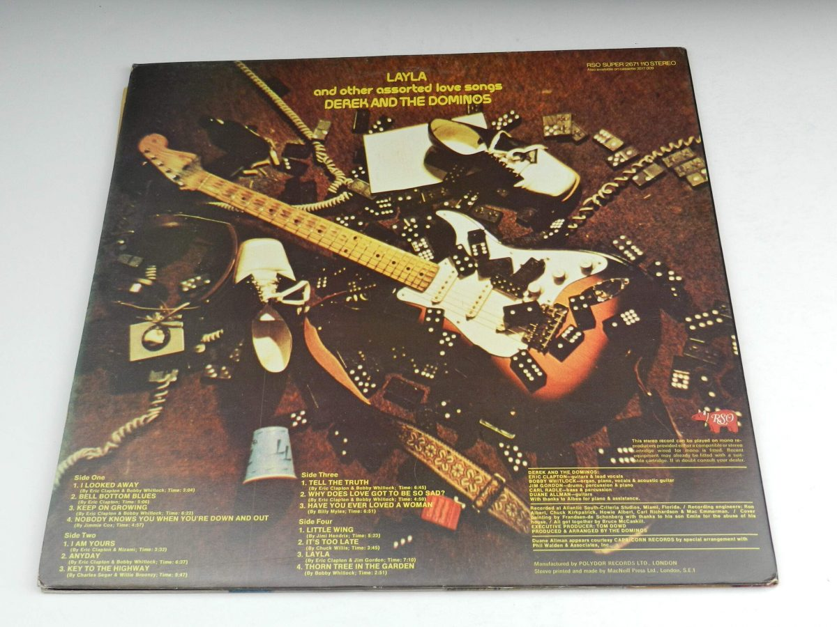 Derek and The Dominos – Layla And Other Assorted Love Songs vinyl record sleeve rear scaled