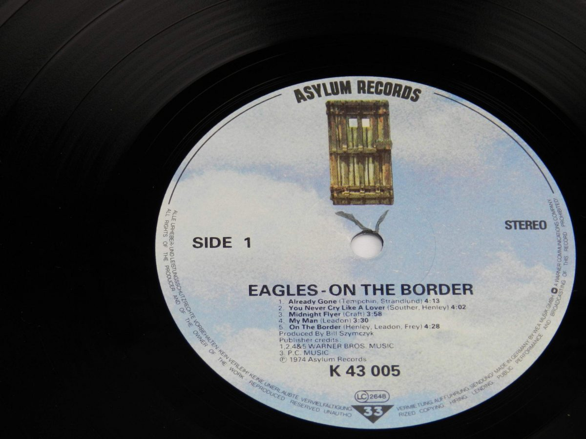 Eagles – On The Border vinyl record side A label scaled