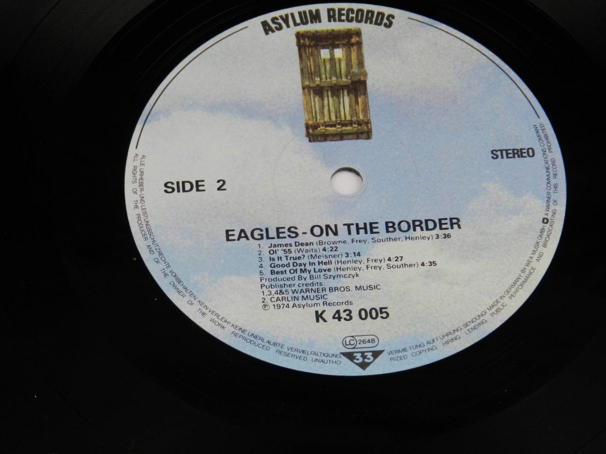 Eagles – On The Border vinyl record side B label scaled