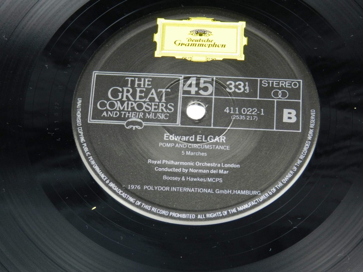 Elgar Royal Philharmonic Orchestra Norman Del Mar – Enigma Variations Opus 36 And Pomp And Circumstance Opus 39 vinyl record side B label scaled