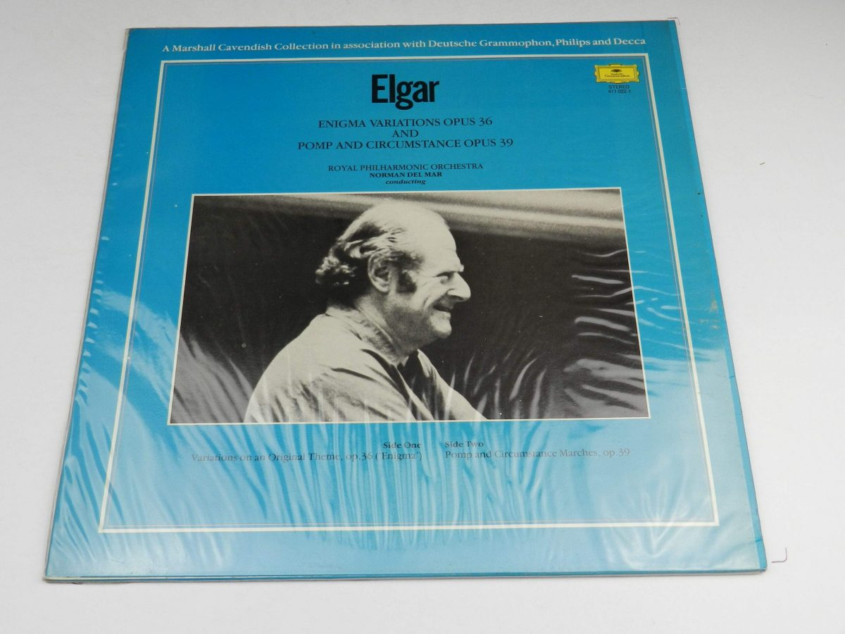 Elgar Royal Philharmonic Orchestra Norman Del Mar – Enigma Variations Opus 36 And Pomp And Circumstance Opus 39 vinyl record sleeve rear scaled