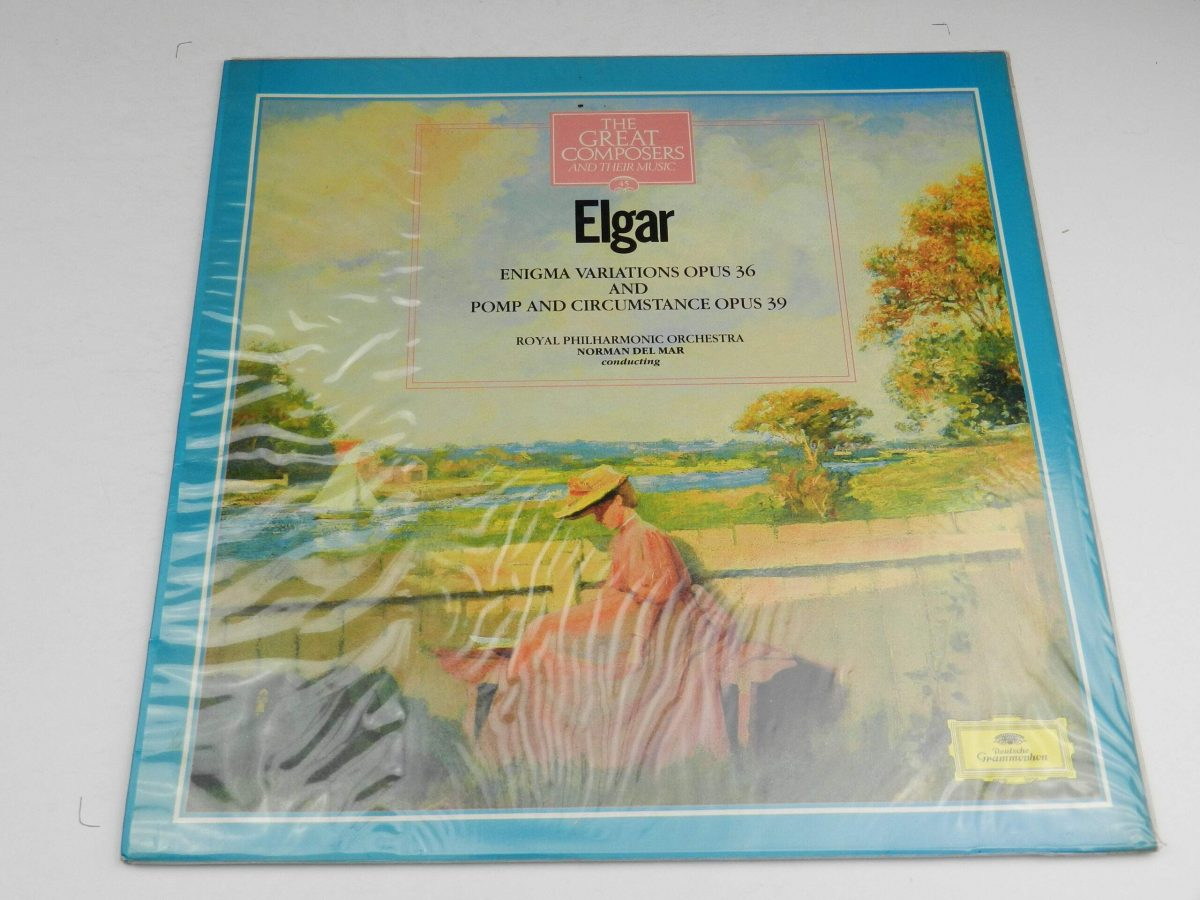 Elgar Royal Philharmonic Orchestra Norman Del Mar – Enigma Variations Opus 36 And Pomp And Circumstance Opus 39 vinyl record sleeve scaled