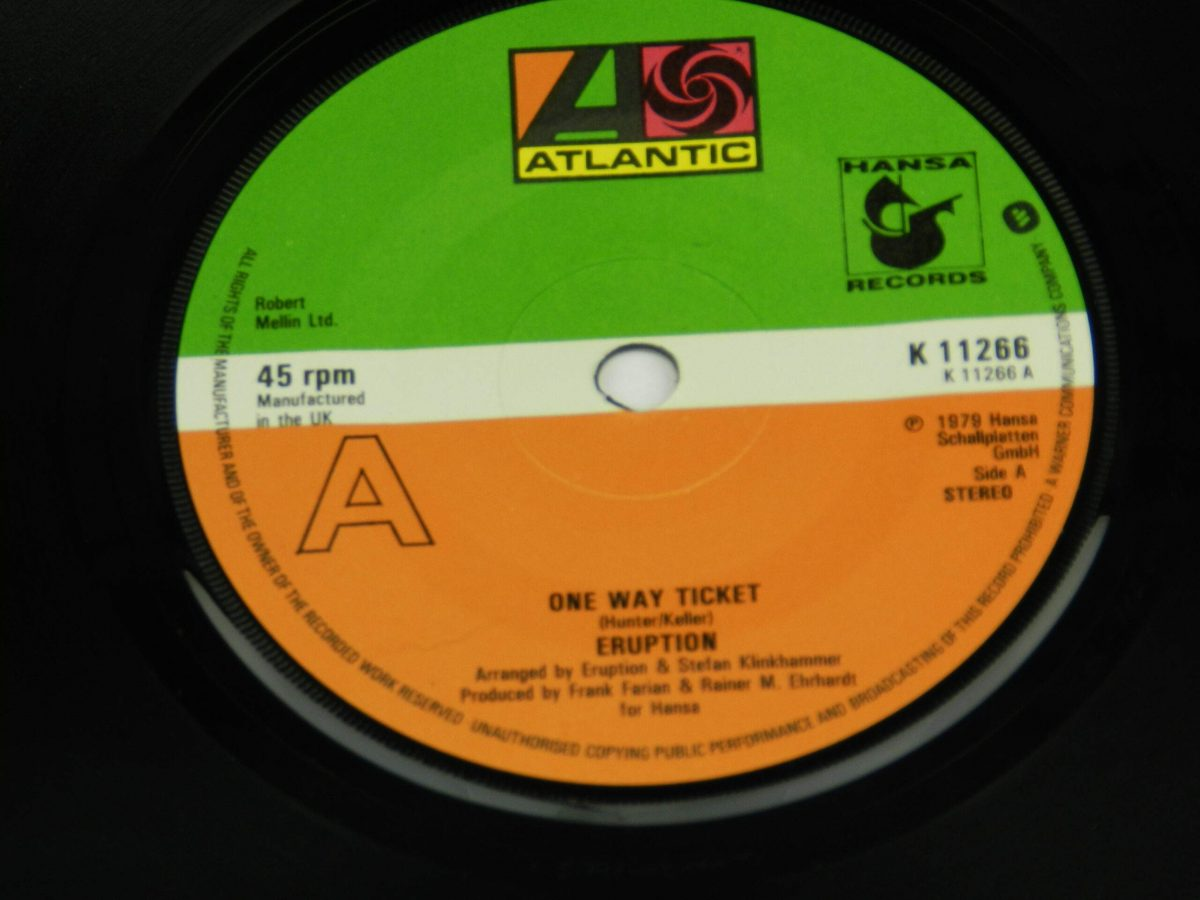 Eruption – One Way Ticket vinyl record side A label scaled