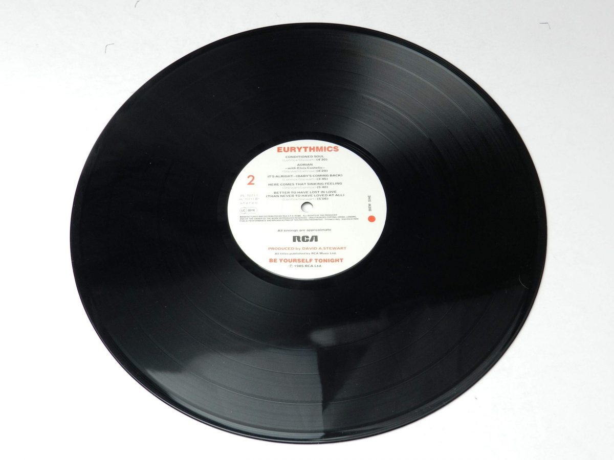 Eurythmics – Be Yourself Tonight vinyl record side B scaled