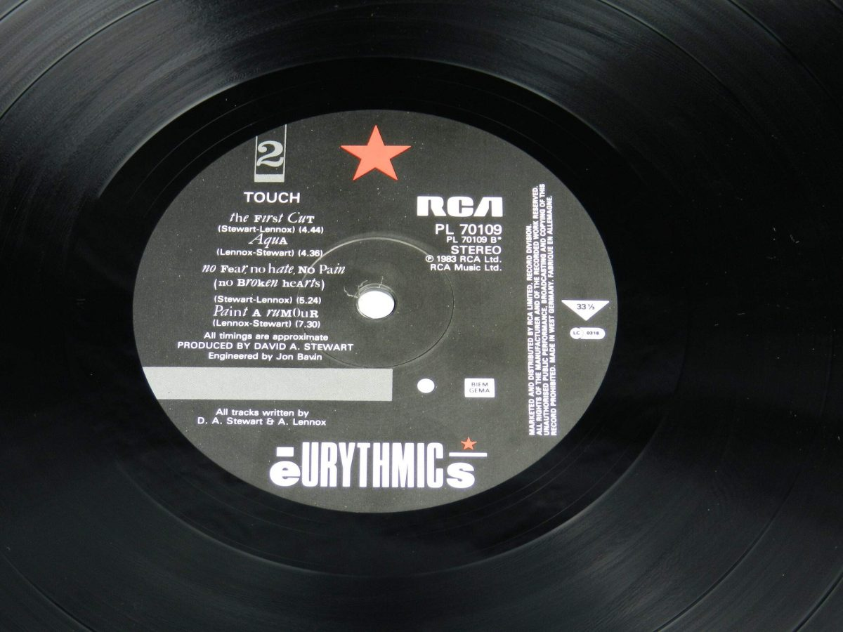 Eurythmics – Touch vinyl record side B label scaled