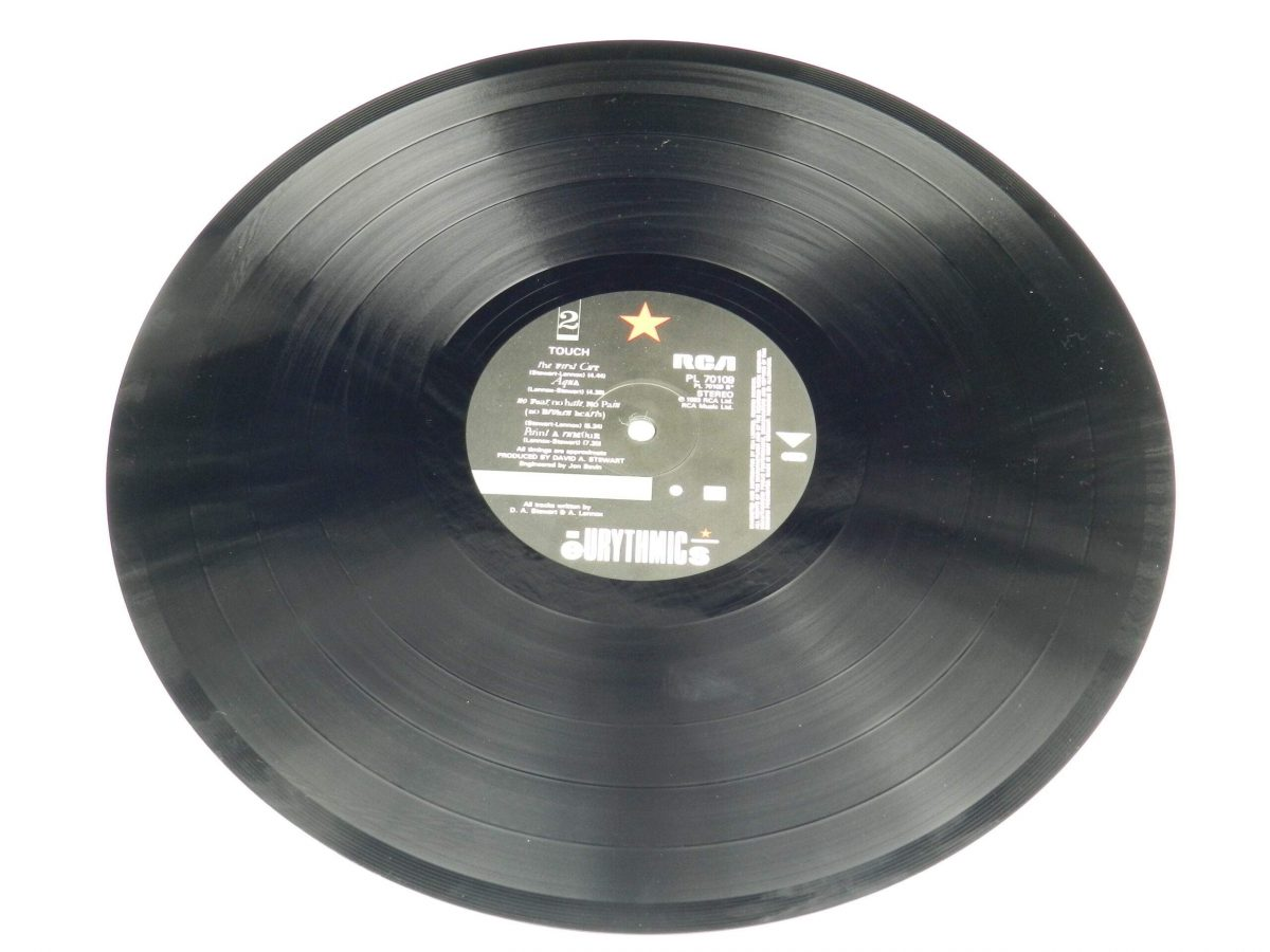 Eurythmics – Touch vinyl record side B scaled