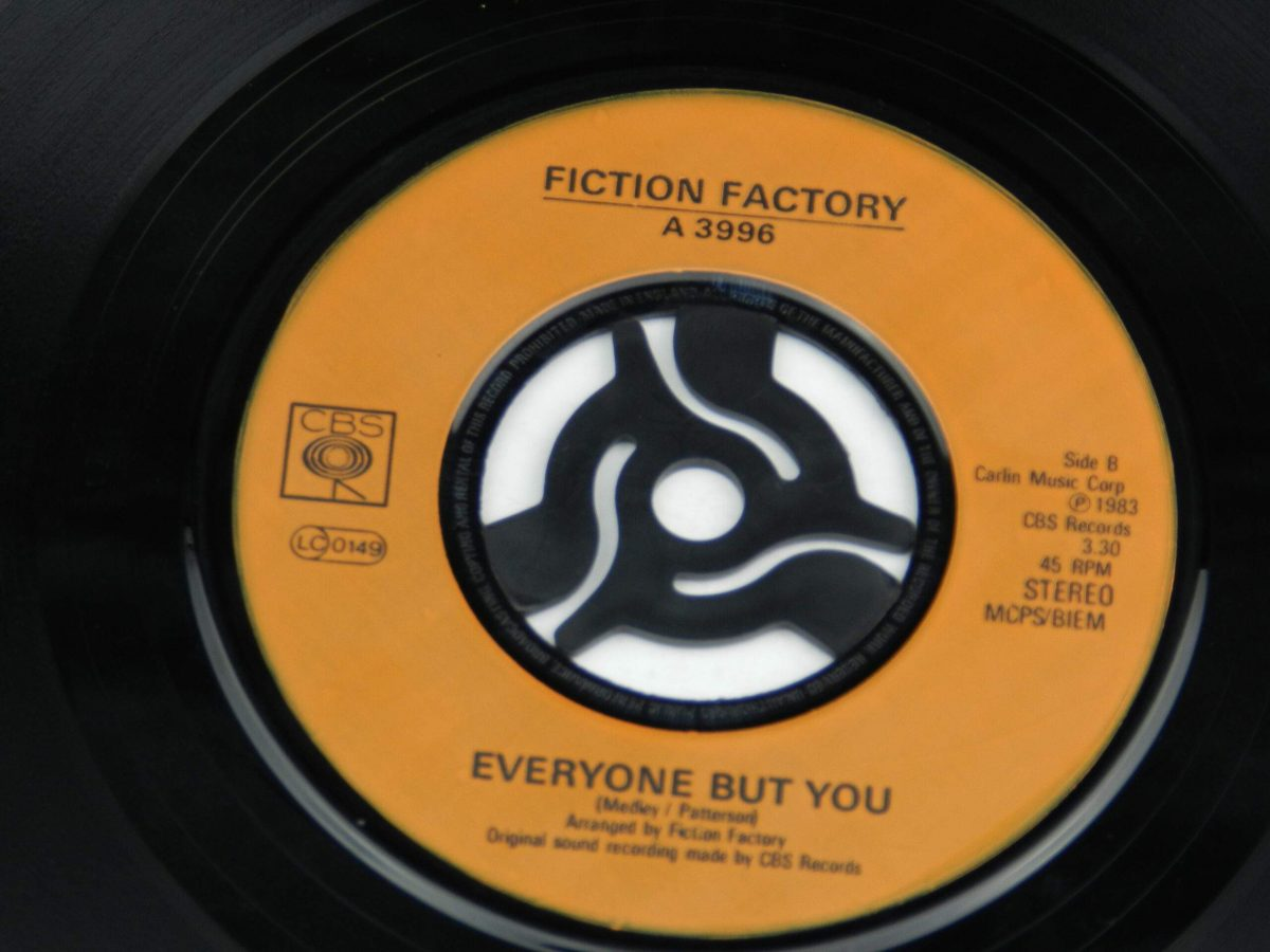 Fiction Factory – Feels Like Heaven vinyl record side A label scaled