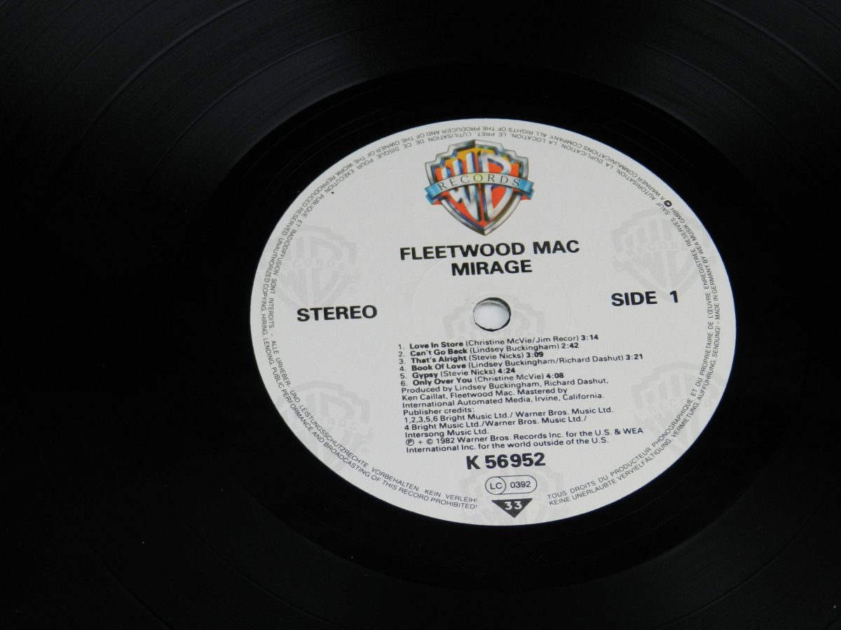 Fleetwood Mac – Mirage vinyl record side A label scaled