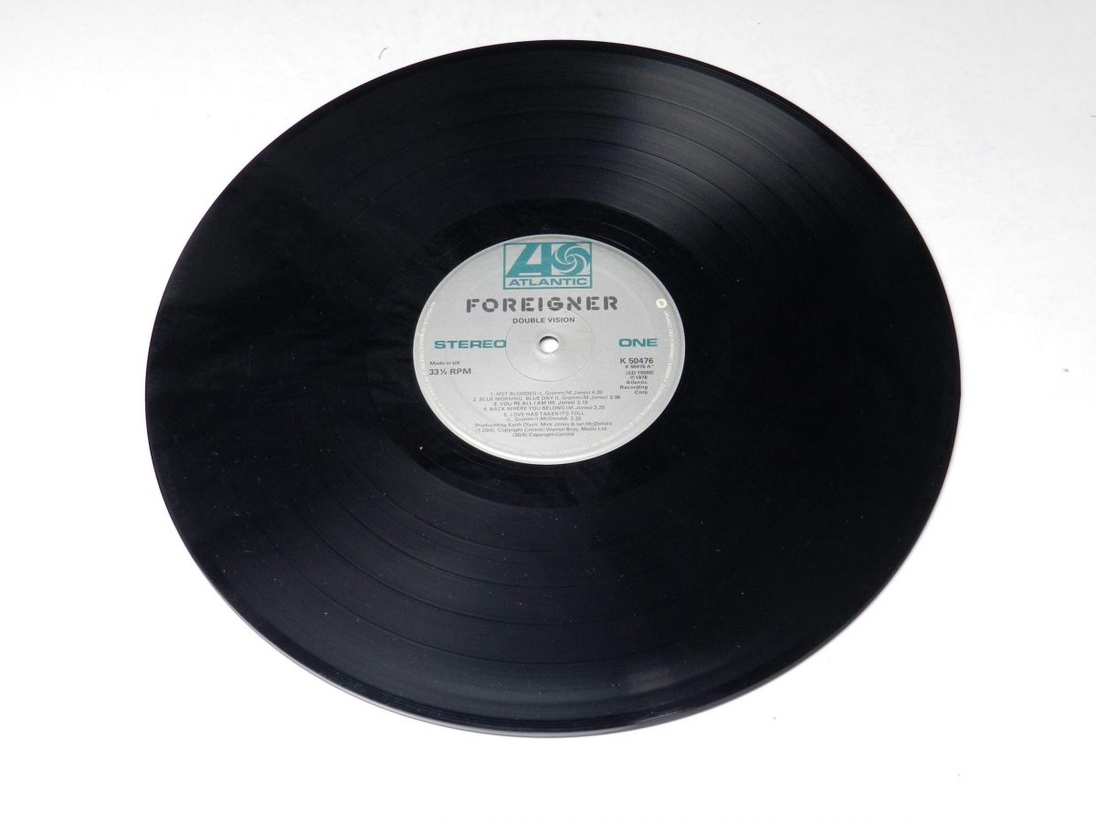Foreigner – Double Vision vinyl record side A scaled