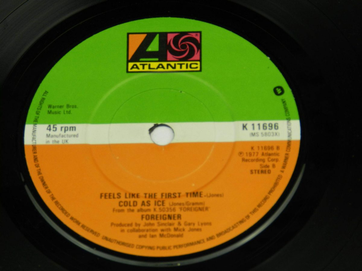 Foreigner – Waiting For A Girl Like You vinyl record side B label scaled